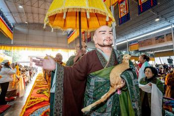 The Sixteen Arhats and Alms Procession