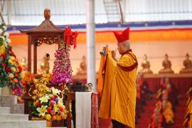 The Opening Session of the 34th Kagyu Monlam Chenmo in Bodhgaya