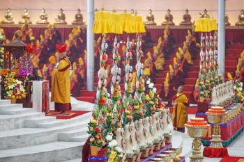 Tormas at the 34th Kagyu Monlam