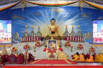 An explanation of the Tormas and Welcome Gate at 37th Kagyu Monlam